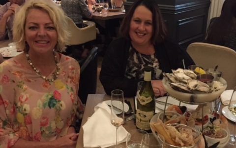 At the Oyster Bar, Sutton Place Hotel during Million Dollar Round Table Vancouver with Katrina Church, 2015/16 New Zealand Adviser of the Year.