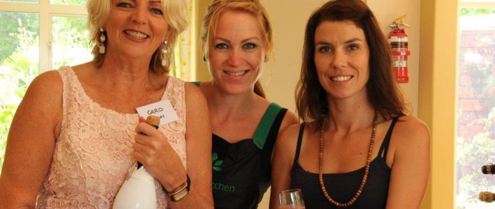 Caro with MKR winners Belinda and Neena.