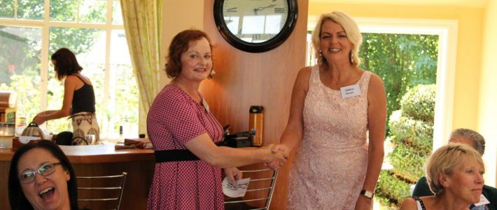 Caro with research nurse for the Waikato Breast Cancer Trust, Jenni Scarlet.